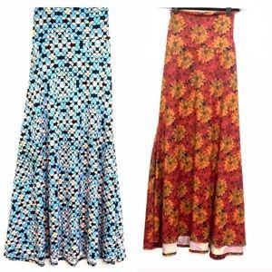 Two LuLaRoe Maxi Skirts